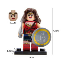 Superman Figura Compatible Lego Mujer Maravilla Wonder Woman