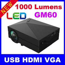 Video Proyector Hdmi Vga Usb Sd Led Hd 1000 Lumen 130 Pulg
