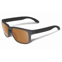 Óculos Oakley Holbrook Matte Black - Lente Bronze Polarizada