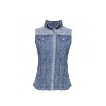 Camisa Blusa Mezclilla Denim