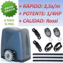 Motor Porton Corredizo Rapido Rossi Kit Automatizacion Dz36