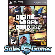 Ps3 - Gta V - Grand Theft Auto 5 - Português Via Psn