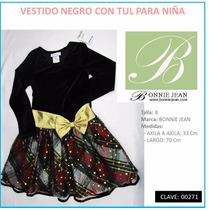 Vestido Negro Para Niña Marca Bonnie Jean T 8 Envío Gratis