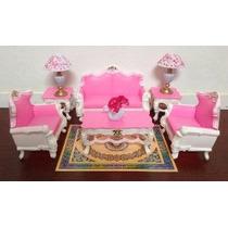 Gloria Barbie Sized Deluxe Sala De Estar Muebles Y Accesorio