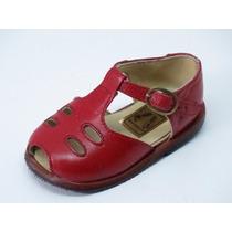Divinos Zapatos Beba-100%cuero Rojo-un Solo Uso-17/19/20/21
