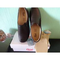 Flexi Zapatos Piel Dama Color Moka Super Comodos Est.48303