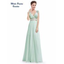 Majestuoso Vestido Griego Cuello V Bella Espalda Moda Pasion