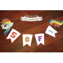 Cartel My Little Pony Personalizado Con Nombre