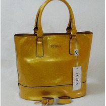 Carteras Furla Italiana Dorada Fashion Ch Mk