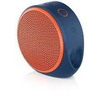 Bocinas Log X100 Mini 1.0 Bluetooth Naranja