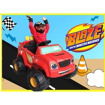Blaze Power Wheels Montable Tractor Eléctrico Niños Monster