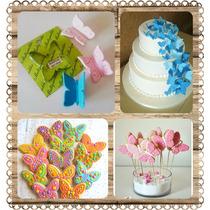 Cortante Mariposa Para Tortas Cupcakes Galletitas Porcelana