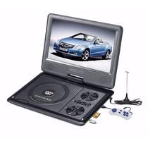 Dvd Portatil 3d Tela Lcd Tv Cd Usb Fm Jogos Multimidia Carro