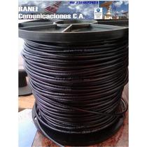 Cable Utp Cat6 Cat 6 100% Cobre 305m 4 Pares Exterior Negro
