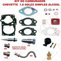 Kit Carburador Chevette 1.4/1.6 Alcool Solex Simples Complet