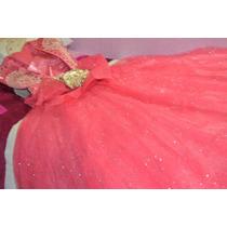 Vestido De Xv Años Color Coral.
