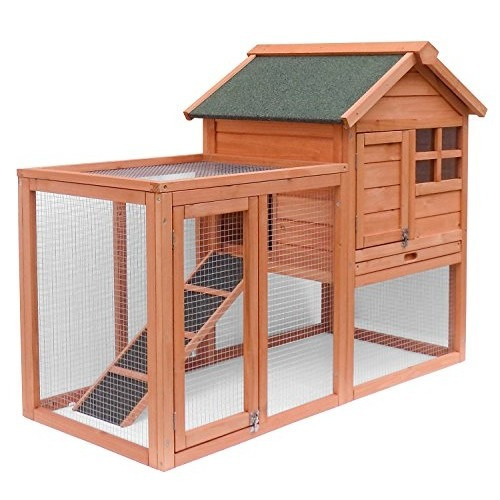 Casa para perro merax mascotas casa de madera del conejo - Casas para gatos de madera ...