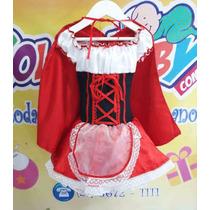 Vestido Fantasia Infantil Chapeuzinho Vermelho
