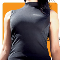 Remera Termica Deportiva Sin Mangas Musculosa Podio Mujer