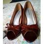 Zapatos Dama Peep Toe Charol