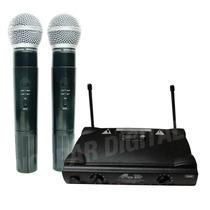 Dos Microfonos Inalambricos Uhf De Mano Gbr Uhf-230