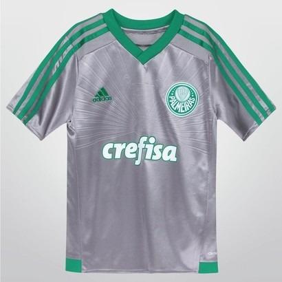 Camisa Infantil Palmeiras adidas Prata 2016 Original - R  109 9214be8981454