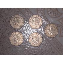 Monedas De 10 Pesos Hidalgo (lote De 5)