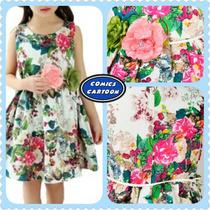 Vestido Espectacular Casual Flores Moda Juvenil Adolescentes