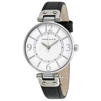 Reloj Anne Klein Acero Inoxidable Piel Mujer 109169wtbk