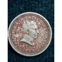 Moneda Uruguay 1953 / 2 Cent/ Ref P5-21