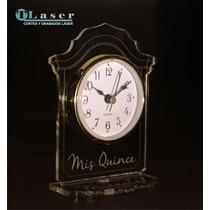 Souvenir Acrilico 15 Años, C/ Reloj, C/ Tu Nombre Grabado