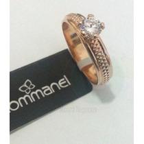 *anel Rommanel Aparador De Aliança Folh Ouro Aro 26 Dourado