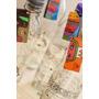 Botellas De Vidrio 1 Lt Deco / Para Agua /jugo Milo Lockett