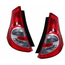 Par Lanterna Traseira Renault Sandero 08 09 10 11 Bicolor