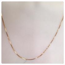Cordão Corrente Veneziana Grossa 60cm Em Ouro 18k- Maciça