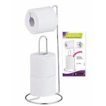 Porta Papel Higiênico P/chão Papeleiro Banheiro Suporte Rolo