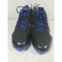 Spikes De Baseball Nike Huarache Negros/azul Metal Original