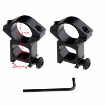 Monturas Para Mira Telescópica Rifles De Aire Con Riel 20mm