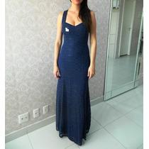 Vestido Azul Marinho/casamento/madrinha/pronta Entrega