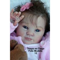 Boneca Bebê Reborn Thays Ou Tiago Parece Um Bebe De Verdade