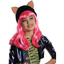 Disfraz De Monster High Vestido Para Niñas Talla Rosa Peluca