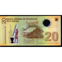 Nicaragua 20 Cordobas 2007 Sin Circular Polymero