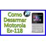 Carcasa Motorola Ex118, Ex119.