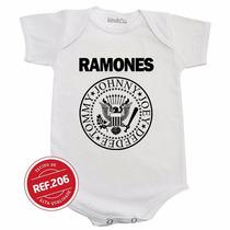 Body Ramones Bebê Bori Bodie Roupinha Camiseta Infantil