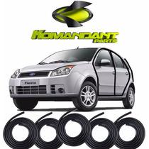 Kit Borracha Portas E Porta Mala Fiesta Hatch E Sedan 02/13