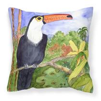 Bird - Tucán Lienzo Tela Almohada Decorativa