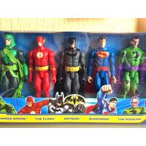 Liga Justicia 5 Pack Batman Superman Flash Arrow The Riddler