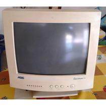 Monitor 15 Crt Para Pc Con Sus Cables