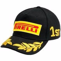 Boné Pirelli F1 Importado Na Cor Preta