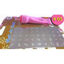 Plantillas Uñas Trae45 Diseños Estampador+espátula Manicura